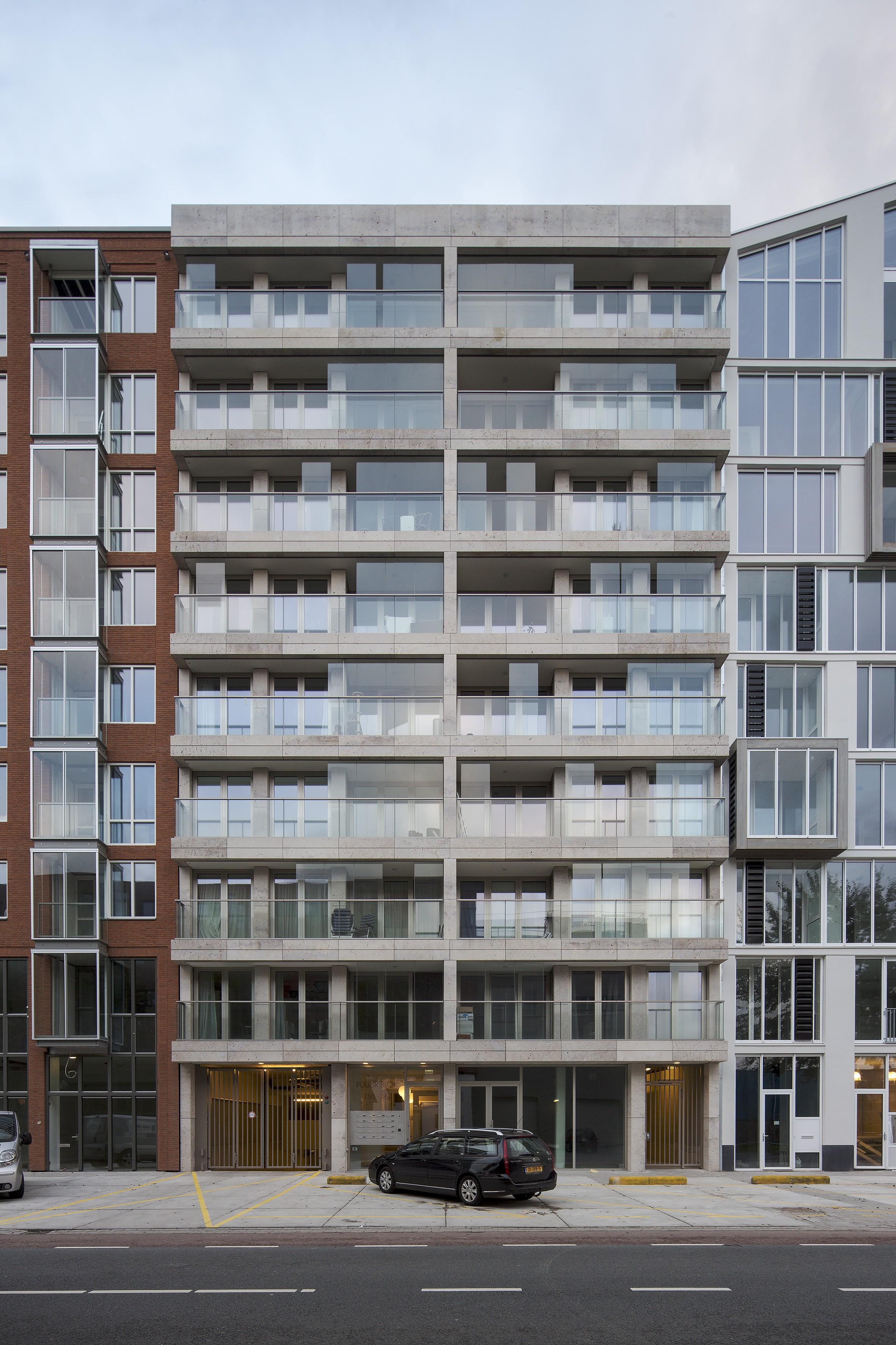 Atelier PUUUR BLOK loft apartement BLOK0 Houthaven Amsterdam CO zelfbouw geluidbelaste gevel