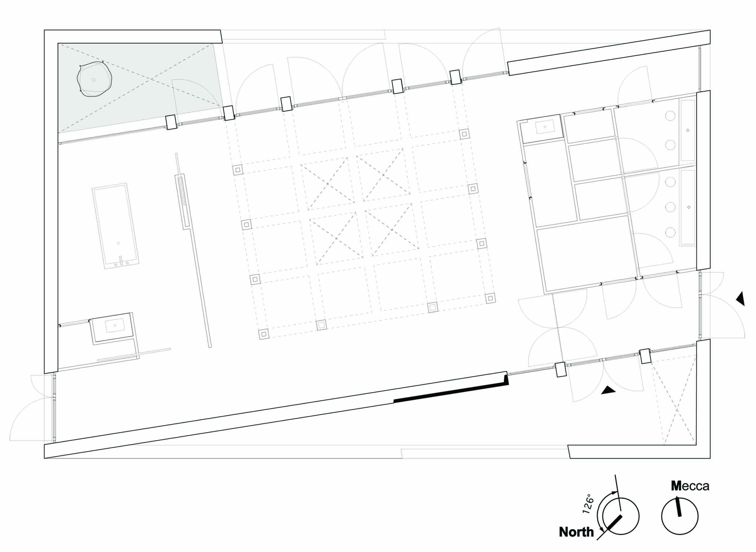 Islamitisch Uitvaartpaviljoen atelier PUUUR De Nieuwe Ooster_plattegrond