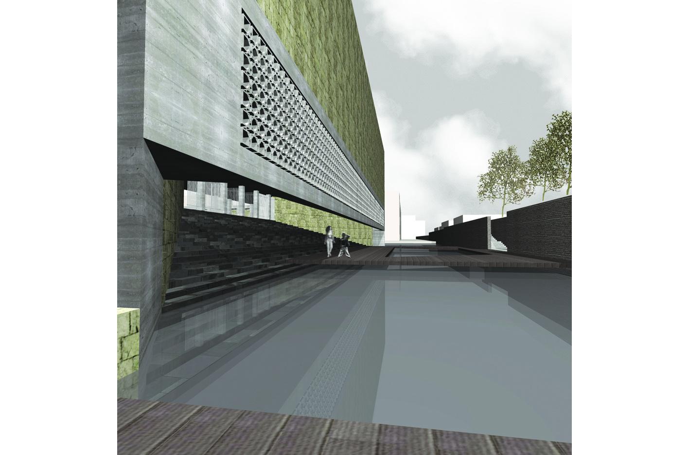 Islamitische Begraafplaats Amsterdam West academie van Bouwkunst Atelier PUUUR furkan Köse Erasmuspark  winnaar Archiprix 2005
