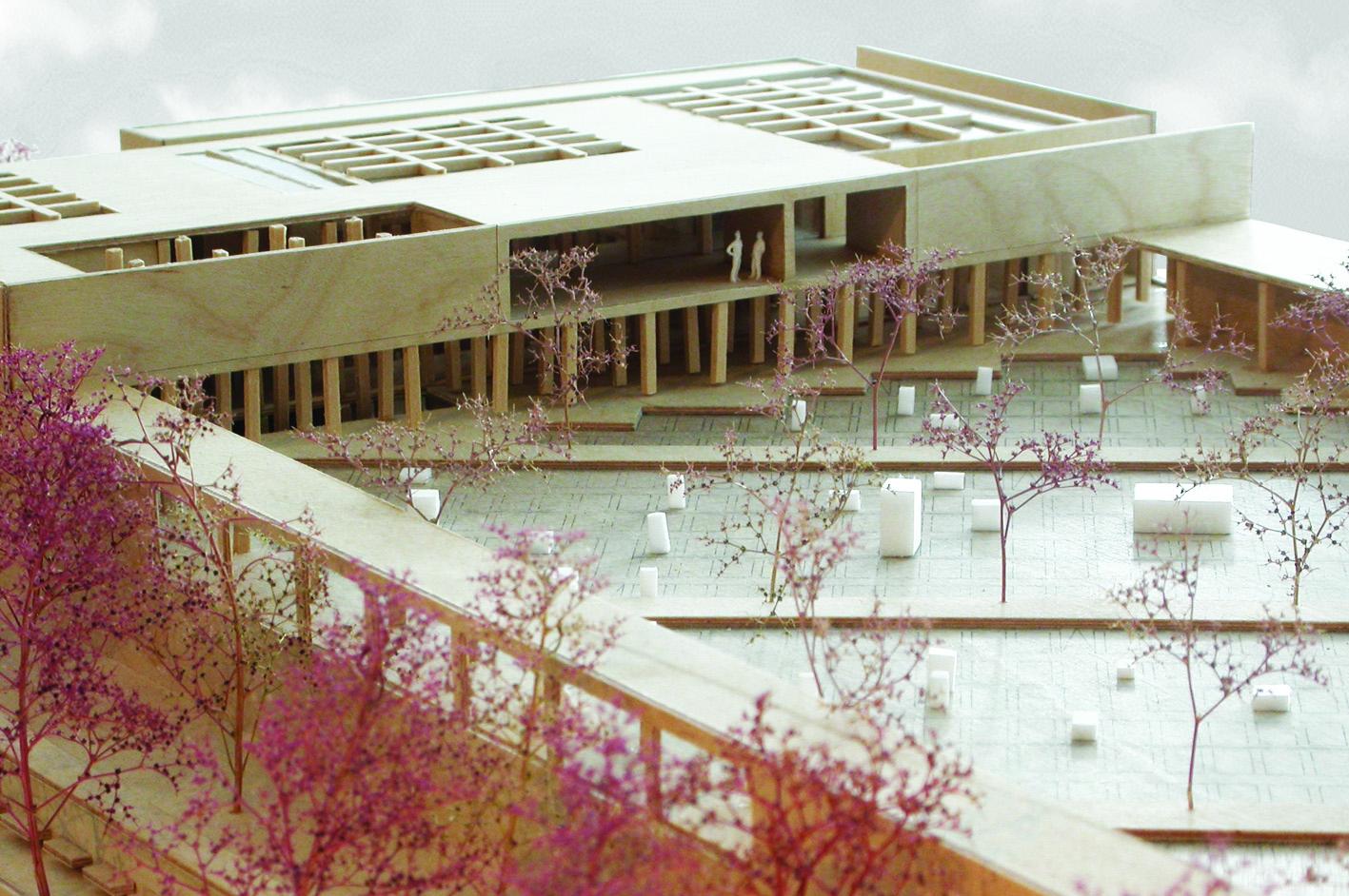 Islamitische Begraafplaats Amsterdam West academie van Bouwkunst Atelier PUUUR furkan Köse maquette  winnaar Archiprix 2005