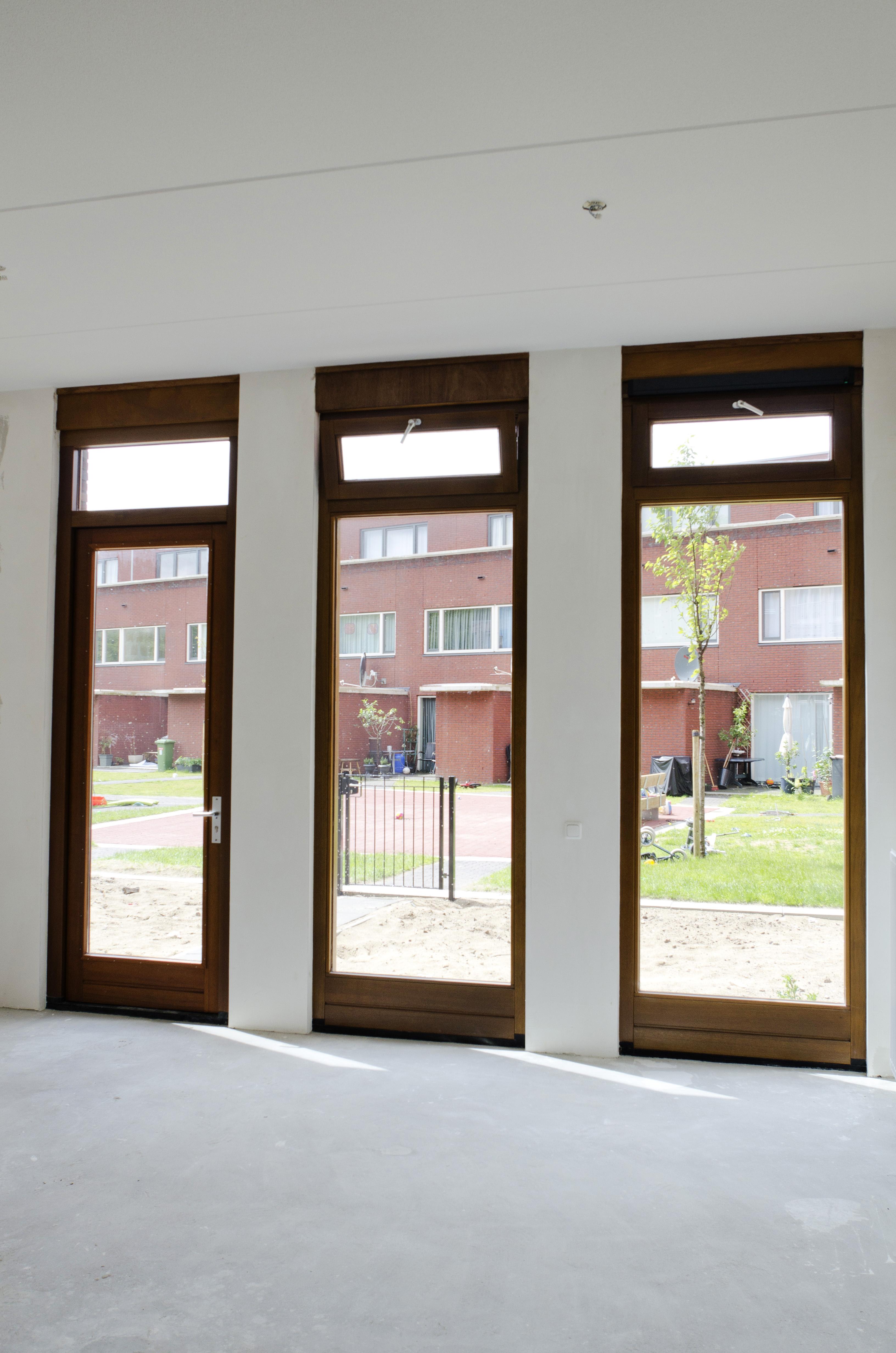 Kavel 9 van Tijenbuurt Getijenveld Atelier PUUUR zelfbouw particulier Opdrachtgeverschap Amsterdam West herenhuis interieur extra hoge verdiepingshoogte