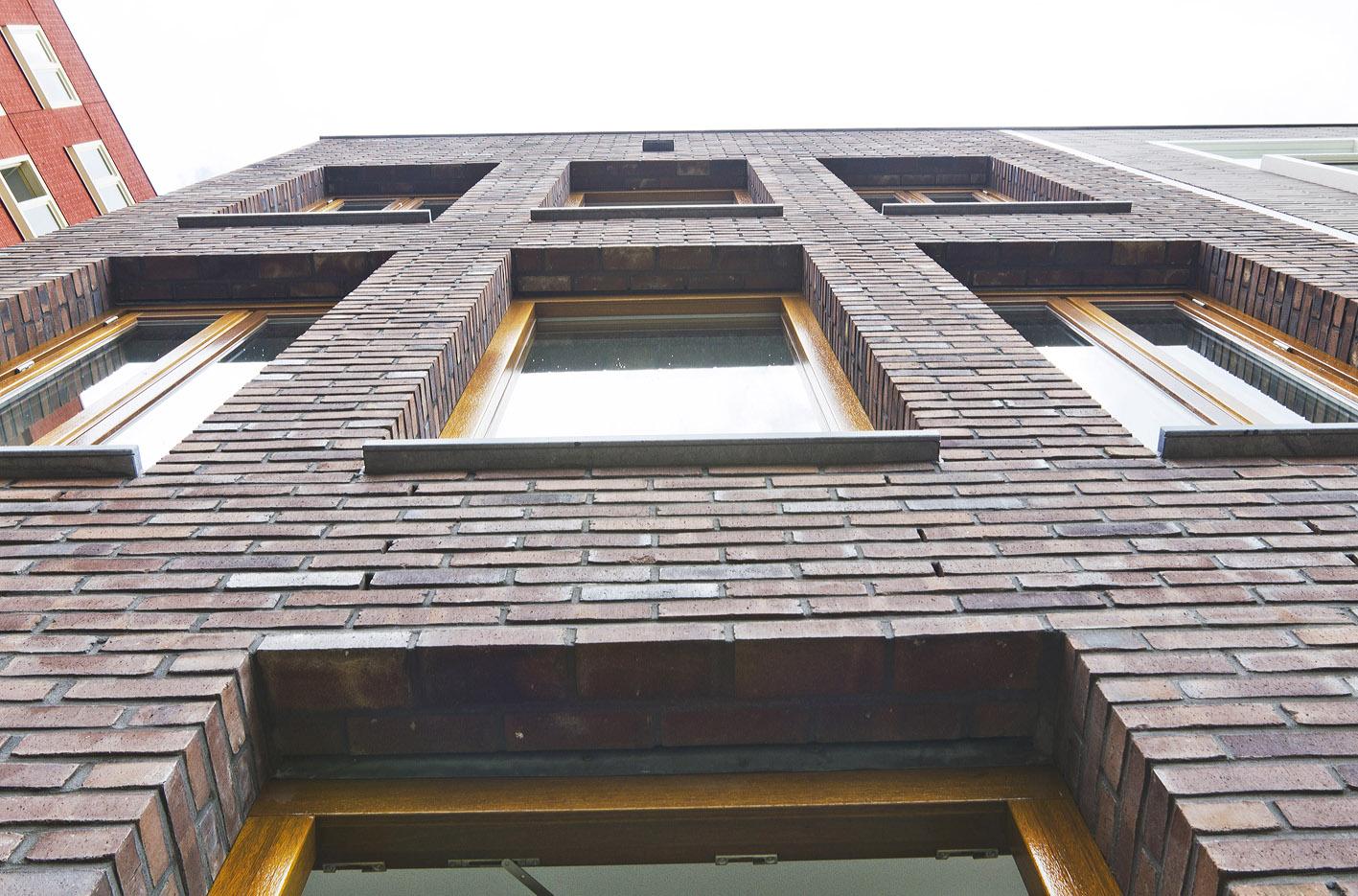 Kavel 9 van Tijenbuurt Getijenveld Atelier PUUUR zelfbouw particulier Opdrachtgeverschap Amsterdam West herenhuis metselwerk geveldetail2