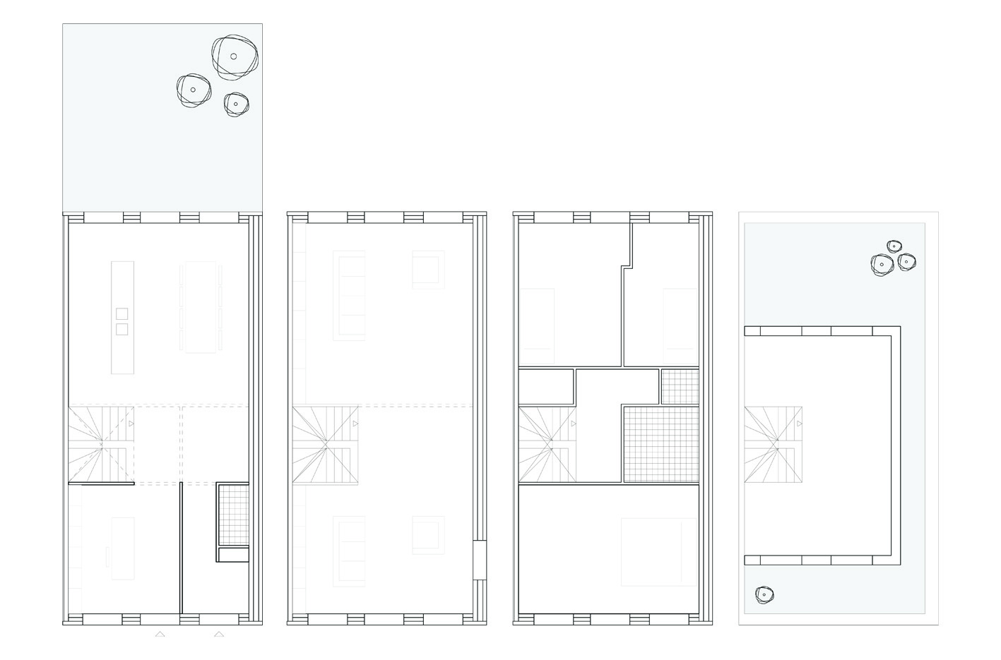 Kavel 9 van Tijenbuurt Getijenveld Atelier PUUUR zelfbouw particulier Opdrachtgeverschap Amsterdam West plattegronden