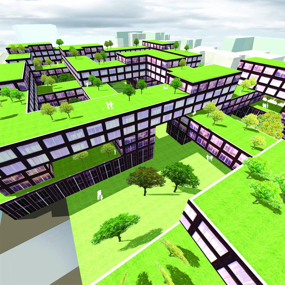 Lelylaan atelier PUUUR cultureel geinspireerd wonen hof2 BNA Jonge Architecten Prijsvraag