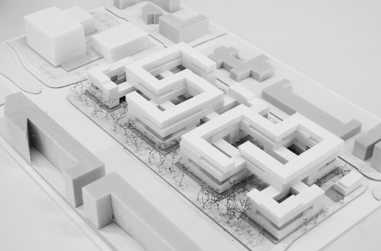 Lelylaan atelier PUUUR cultureel geinspireerd wonen maquette BNA Jonge Architecten Prijsvraag