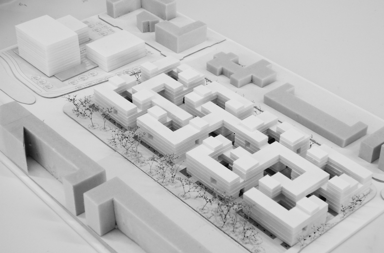 Lelylaan atelier PUUUR cultureel geinspireerd wonen maquette2 BNA Jonge Architecten Prijsvraag