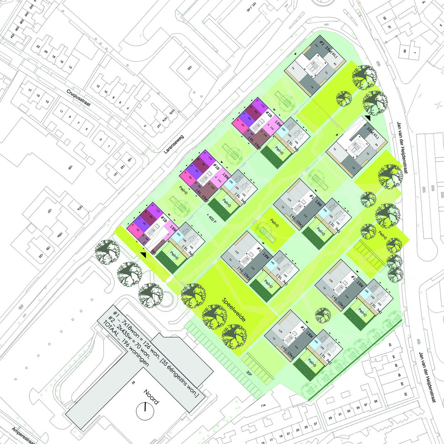 Lucent terrein Ripolin Hilversum stedenbouwkundig plan Alliantie Atelier PUUUR