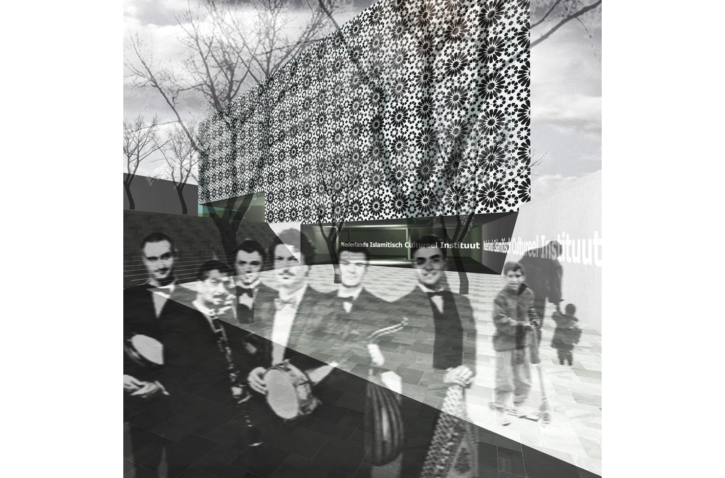 Nederlands Islamitisch Cultureel Instituut Amsterdam mr visserplein Atelier PUUUR prix de rome prefab beton verdiept plein