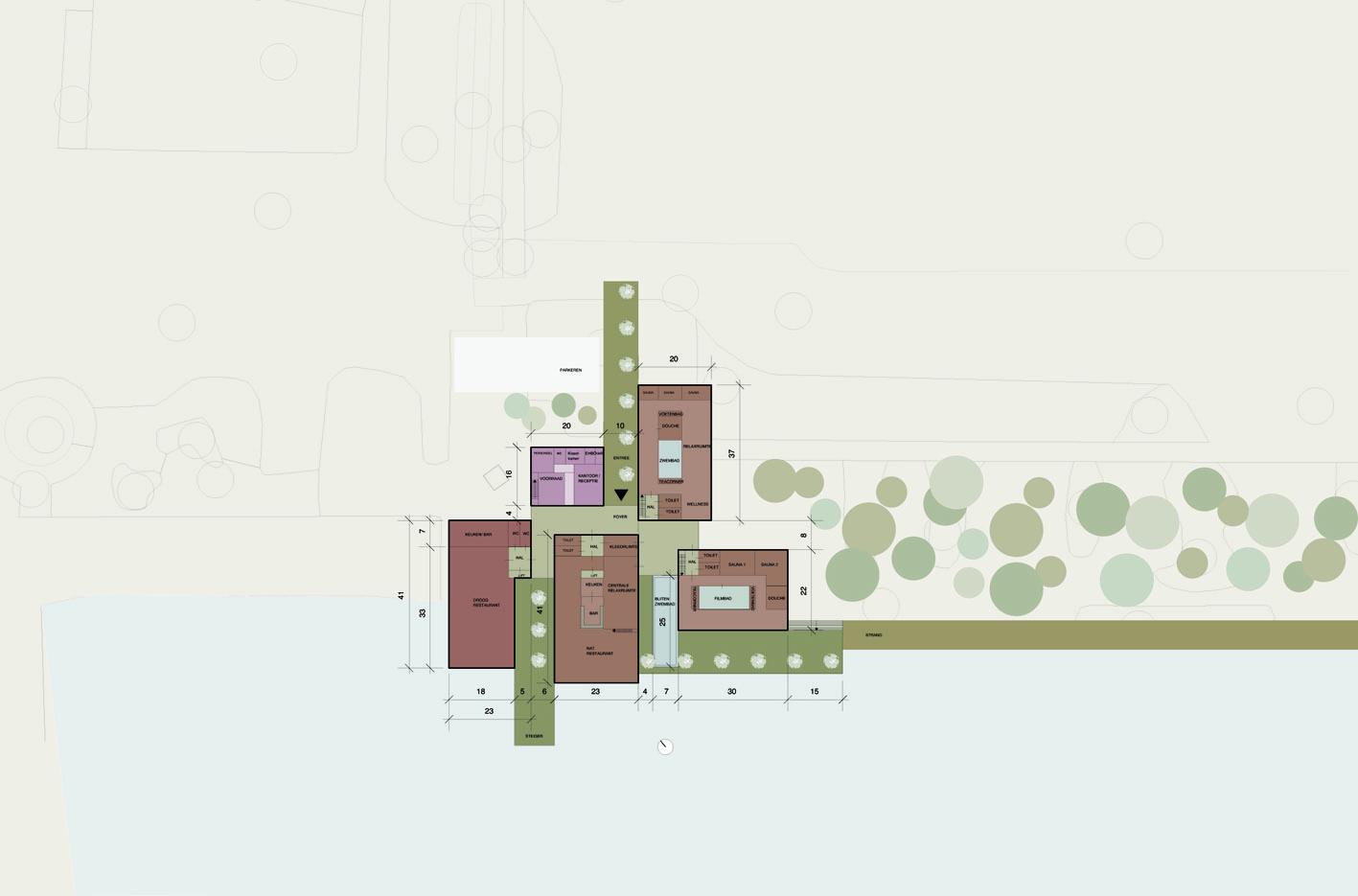 Spa Wellness Hotel Maarssen maarssenveenseplassen atelier PUUUR plattegrond