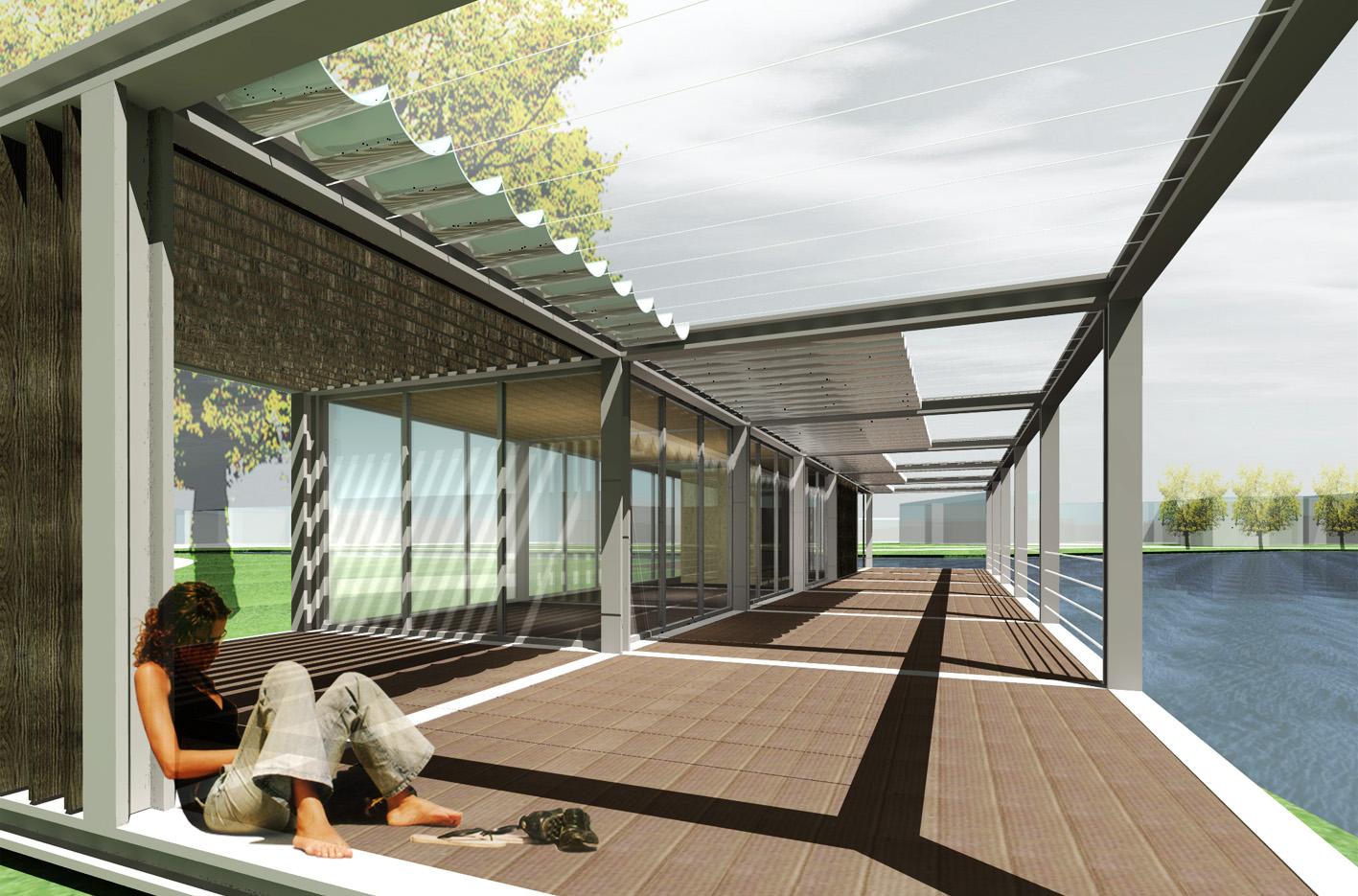 Theehuis Paviljoen 3D terras Schellingwouderbreek plas Amsterdam Noord