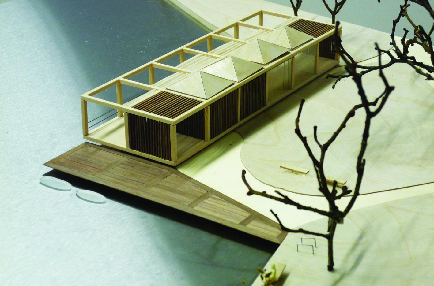 Theehuis Paviljoen maquette Schellingwouderbreek plas Amsterdam Noord