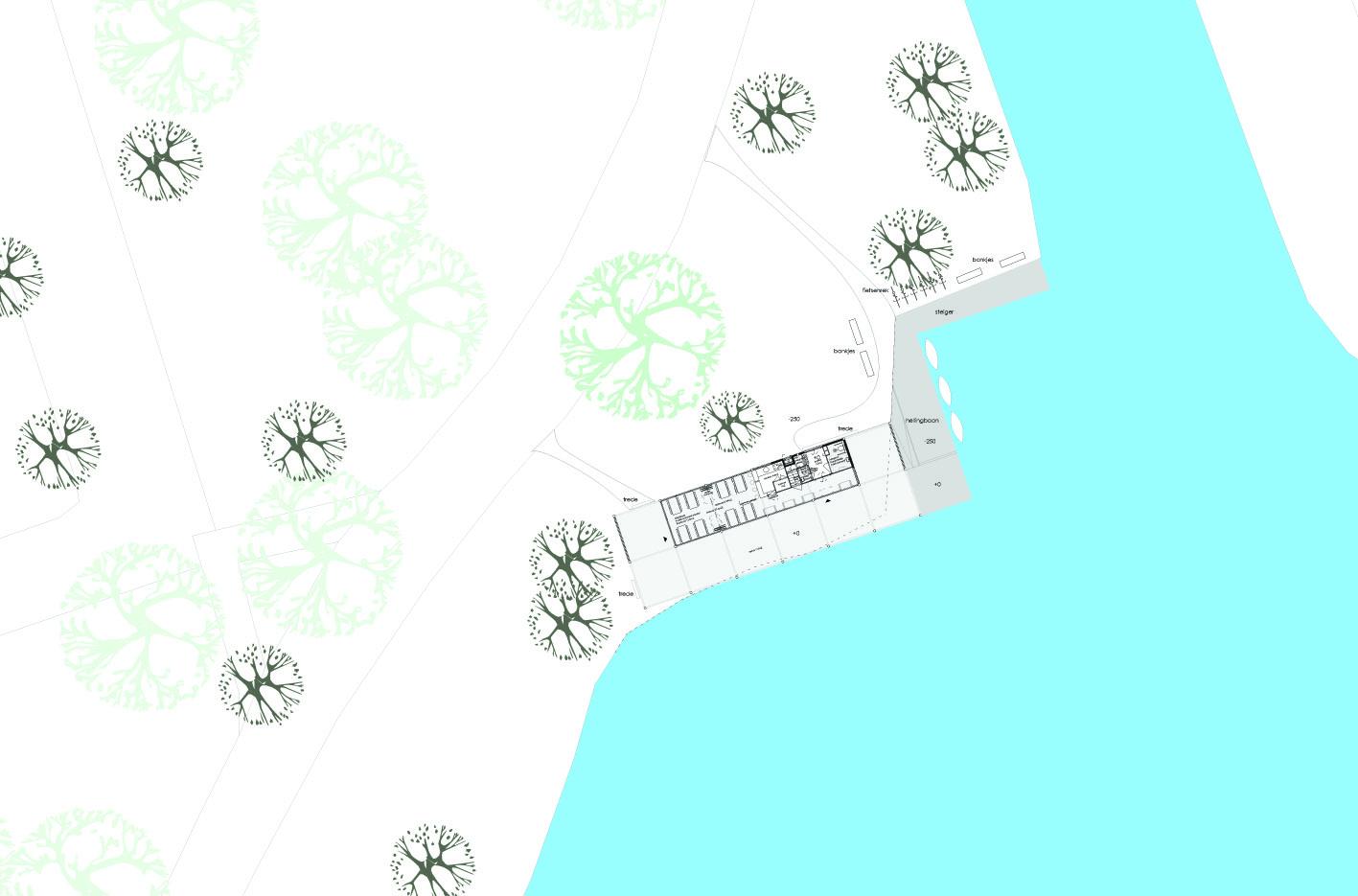 Theehuis Paviljoen plattegrond Schellingwouderbreek plas Amsterdam Noord