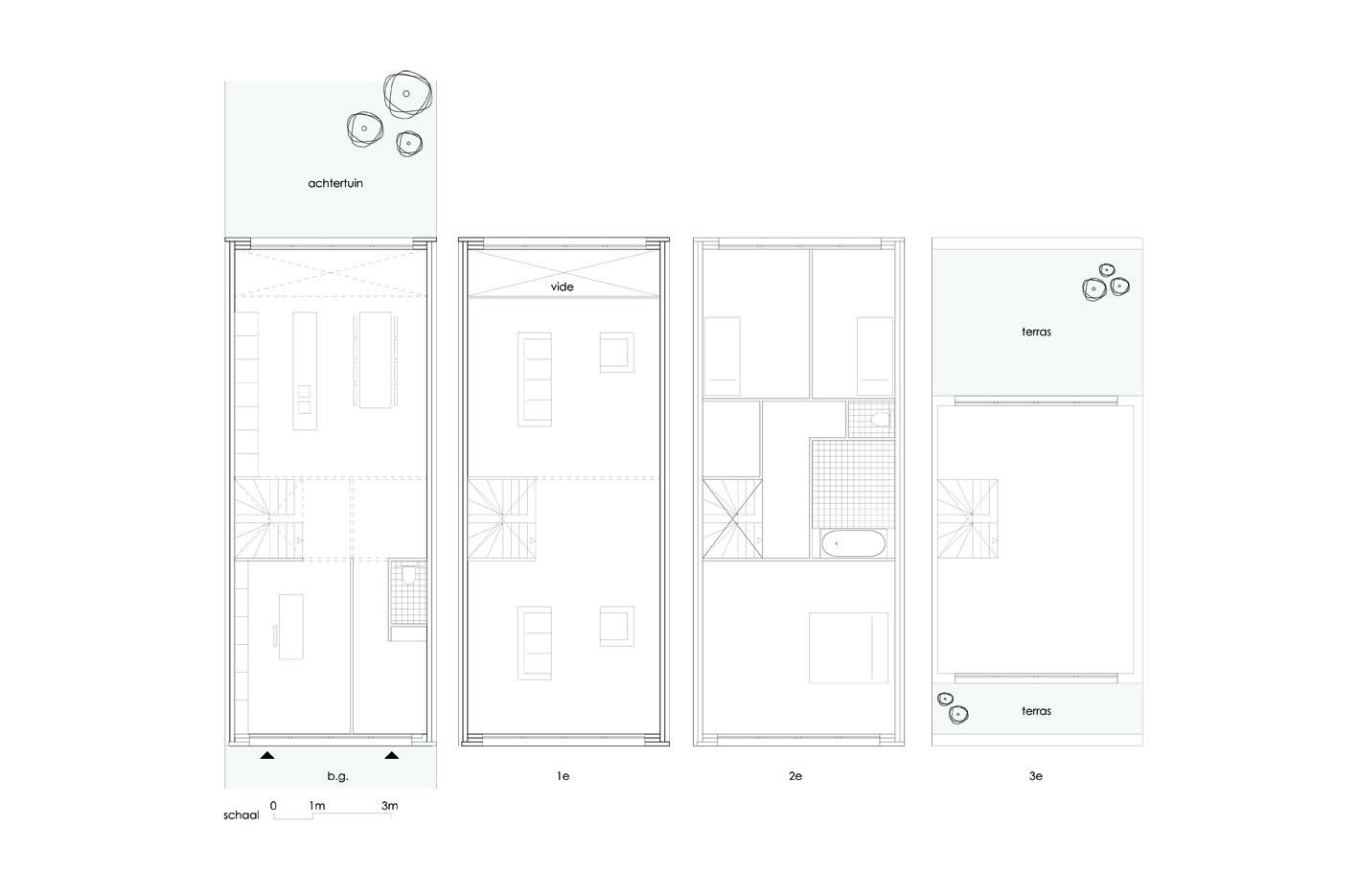 Zeeburgereiland PO zelfbouw kavel atelier PUUUR grondgebonden woning plattegrond