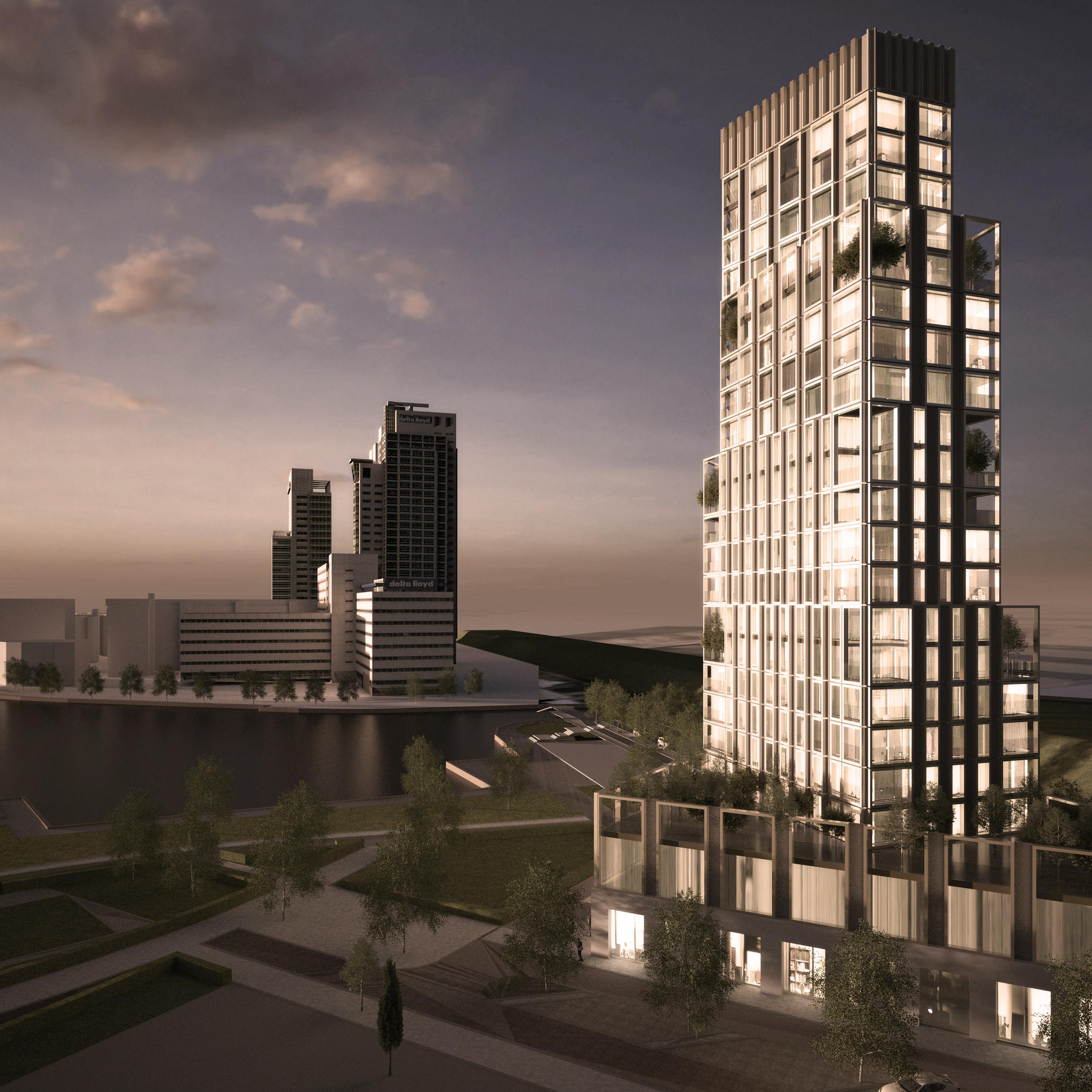 Blok1 Amstelkwartier Atelier PUUUR woontoren 90m