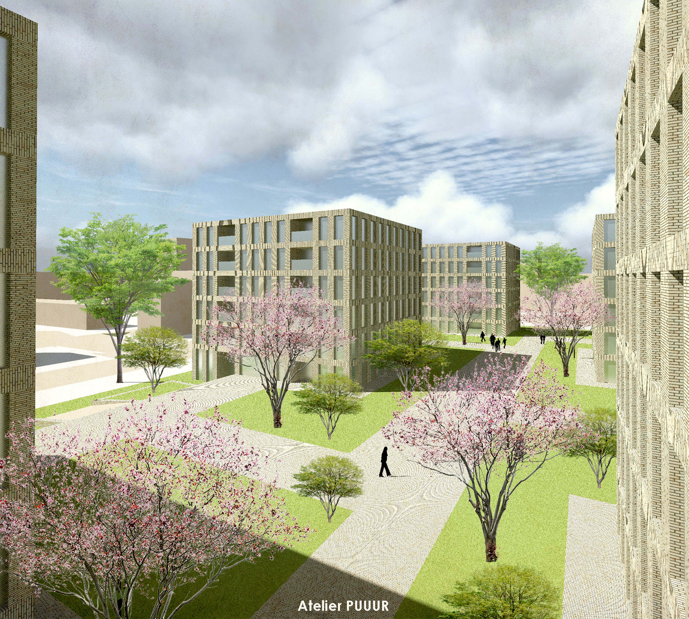 Lindenlaan courtyard 3D1