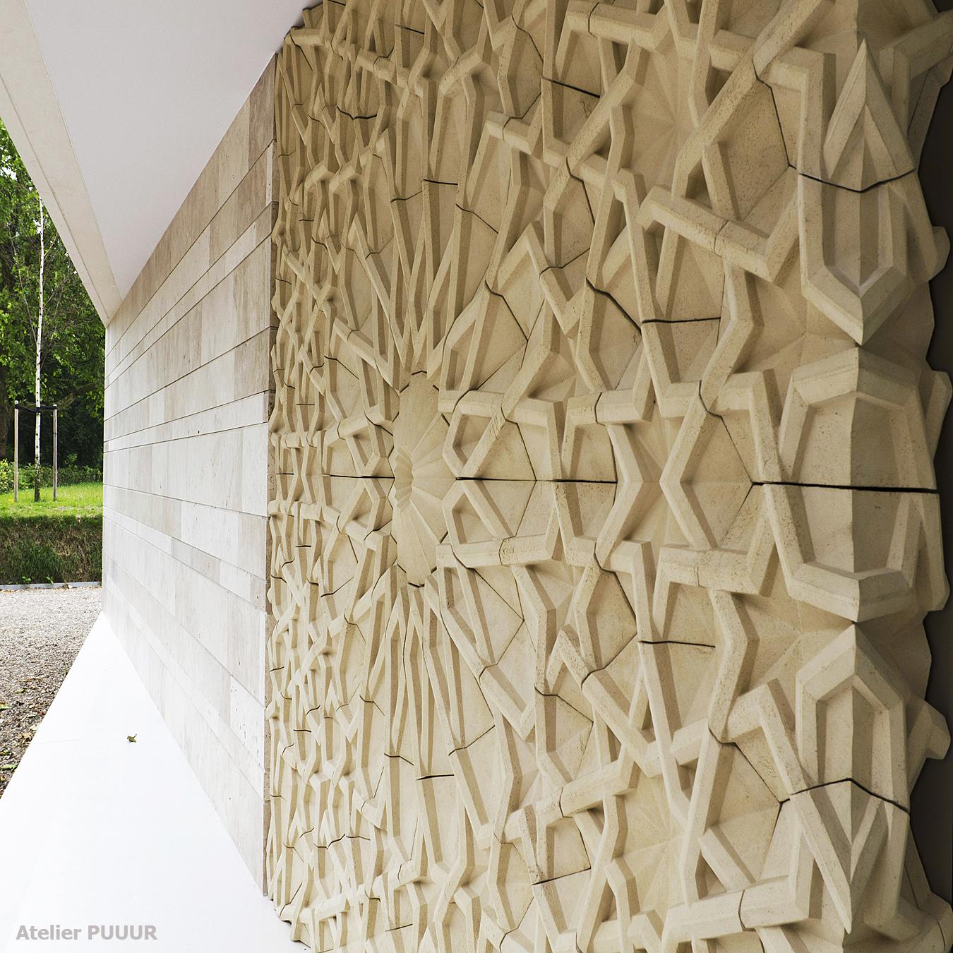 Islamic cemetery _wall mozaïk [Rem Posthuma] Atelier PUUUR