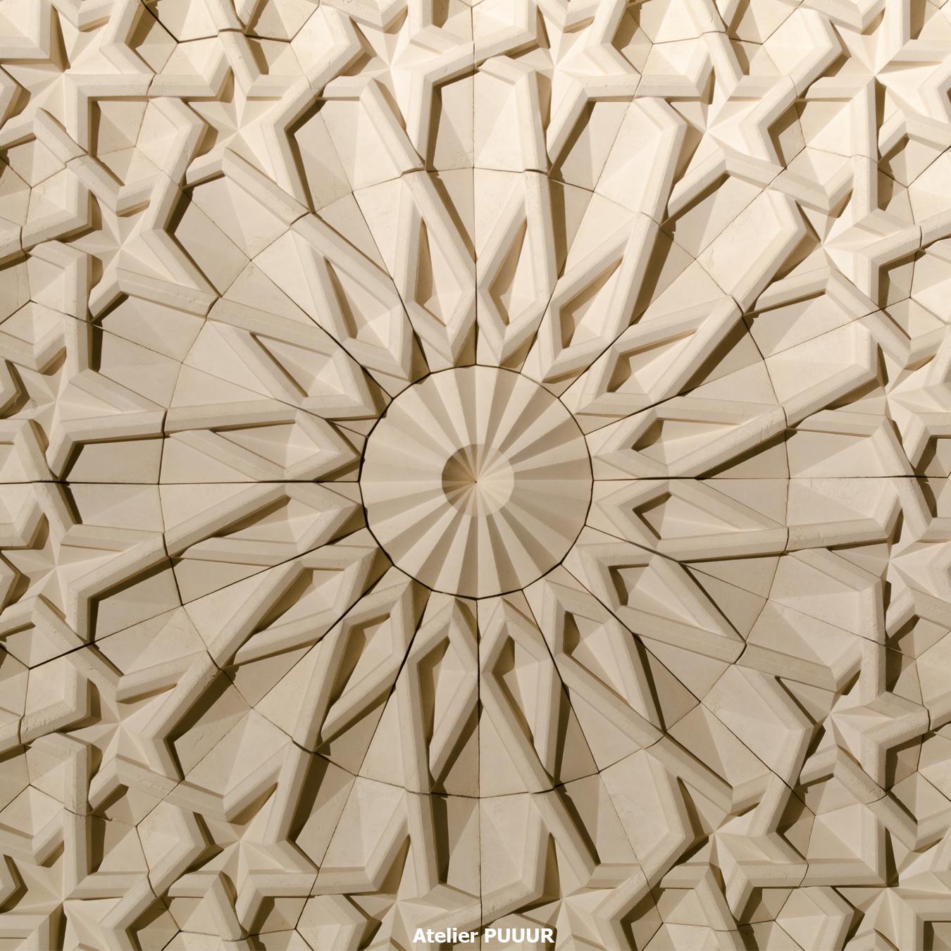 Islamic graveyard pavilion waal mosaic Atelier PUUUR