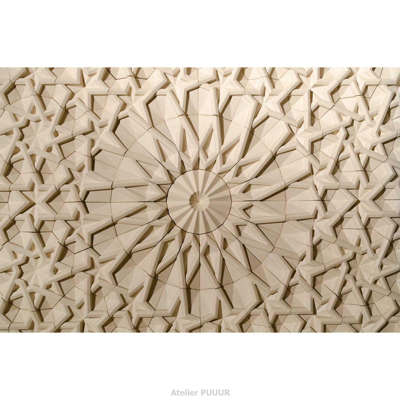 Islamic graveyard pavilion wall mosaic total Atelier PUUUR