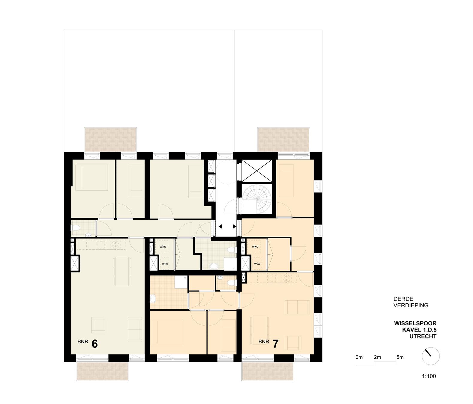 WIISSELSPOOR plattegrond verdieping
