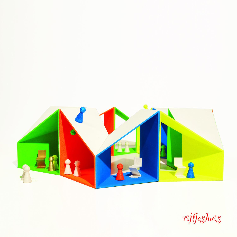 poppenhuis model rijtjeshuis tekst